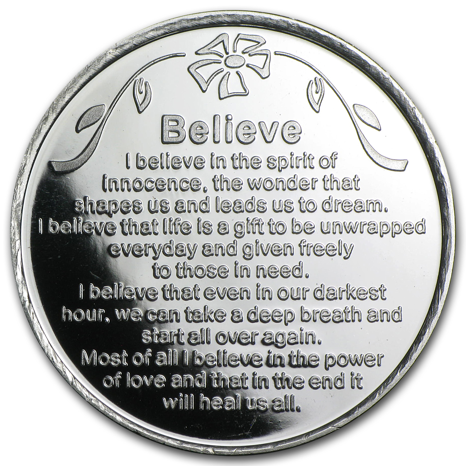 1 oz Silver Rounds - Believe (w/Box & Capsule)